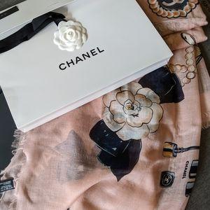Chanel Classic Accessory Shawl pink